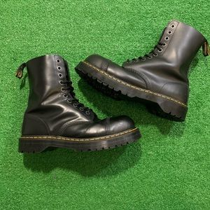Doc Martens Smooth Leather Steel Toe Boots